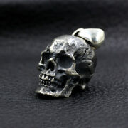 Menand039s Womenand039s Real Solid 925 Sterling Silver Pendants Jewelry Skull Fashion