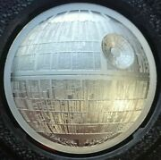 Star Wars - Death Star - Niue 2 Oz Silver 5 2018 Proof Ultra High Relief Coin
