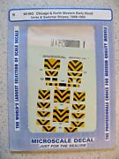 Microscale Decal N 60-963 Chicago And Northwestern Early Hood Units/swtchrs Stripe