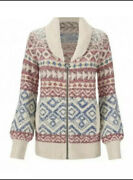 Cabi New Nwt Size Xs Highlands Sweater 3847 Fair Isle Ivory Multi Was 169