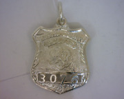 Nassau County New York Sterling Silver Police Badges