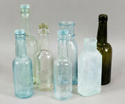 7 Antique Sauce And Bitters Bottles - 1800and039s Early 1900and039s - Lea And Perrins Heinz