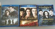 Lot Of 4 Twilight Blu-ray Dvd's Twilight, New Moon, Breaking Dawn Part 1 And 2