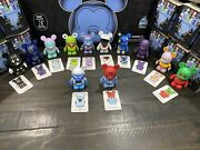 New Disney 3 Vinylmation Park 1 Series Complete Set Of 12 Figures With Chaser