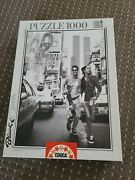 Educa 1000 Piece Puzzle - 42nd Street, Nyc Rare Twin Towers / Black And White