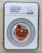 Ngc Pf70 Uc China 2017 Rooster Silver Colored 150g Coin Ding You Year