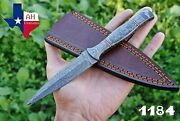 Hand Forged Damascus Steel Dagger Throwing Boot Knife W/ Damascus Handle ..1184
