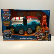 Paw Patrol Dino Rescue Dino Patroller Motorized Vehicle W/ Chase And T-rex Figure