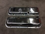 Oem Gm Chrome 1965 1966 Big Block Chevy Valve Covers Z16 Chevelle 66 L78 Impala