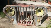Rare Vintage Original Jeep Grill Light Covers Man Cave Wall Art