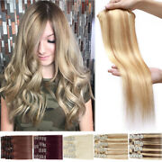 Clearance 100 Real Remy Human Hair Extensions Clip In Full Head 8pcs Blonde Diy