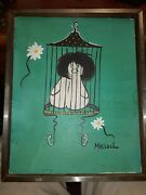 Unknown Artist, Creature In Cage, Oil On Canvas, Signed 'malloch'