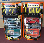 Matchbox Premiere First Edition 1955 Chevy And 1999 Ford Mustang 2 Car Sets