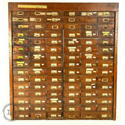 C. 1910 Hardware Store Parts Cabinet