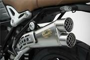 Zard Slip On Exhaust Limited Steel With Mesh Outlet Bmw Rninet Scrambler
