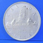 1952 Nwl George Vi Silver Coin Canadian Dollar - Bu Proof Like No Water Lines