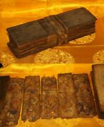 @rare Nice 18th Century Old Antique Tibet Buddhism Sutra Lection Manuscript 14@