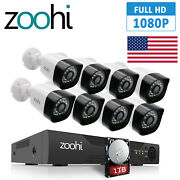 1080p Home Security Camera System Cctv Outdoor With 2tb Hard Drive 8ch Dvr Kits