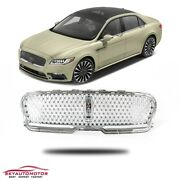 Fit For 2017-2020 Lincoln Continental Sedan Front Grille Chrome With Camera Slot