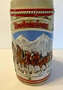 Budweiser Holiday Christmas Beer Stein Clydesdale Collectible Mug 1985 A Series