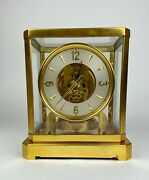 Vintage 1940-50s Swiss Jaeger Lecoultre Atmos 519 Brass Mantle Clock Sn 26675