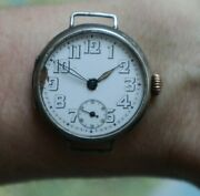 Antique Rolex Military Silver Trench Wrist Watch Rare Collectible Swiss Marks