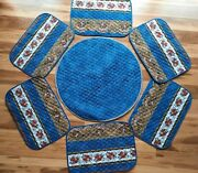 Set 7 Gorgeous French Provencal Marat Avignon Quilted Placemats Table Linens