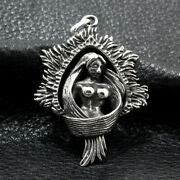 Menand039s Womenand039s Real Solid 925 Sterling Silver Pendants Mermaid Goddess Fashion
