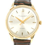 Watches K18 Yellow Gold/leather Mens Silverdial