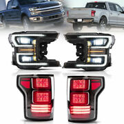 Led Drl Sequential Headlight For Ford F-150 2020 Rear Corner Lamp Left And Right