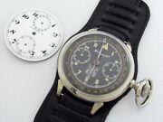Henry Moser Chronograph Ussr Rkka Air Force Pilots Wwii Vintage Swiss Watch