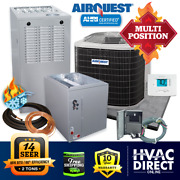 2 Ton Airquest-heil By Carrier 14 Seer 80 88k Btu Gas Furnace And Ac System W/kit