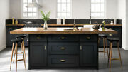 Fully Assembled All Wood 10x10 Cambridge Onyx Kitchen Cabinets Navy Shaker Black