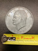 Large 3 Inch Novelty Medal/coin/coaster/paperweight President Eisenhower Pewter