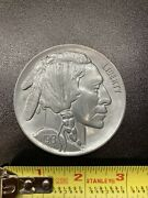 Large 3 Inch Novelty Medal/coin/coaster/paperweight Buffalo Nickel Pewter