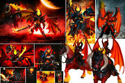 Xarria Winged Red Devil Figure And Arethyr Hades Figure And Hell Horse Lot