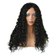 Us Human Hair All Hand Tied Women Wig Long Curly Wavy 360 Full Cap Lady Wigs