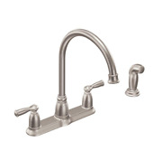 Moen Banbury 2-handle Kitchen Faucet With Side Sprayer In Spot Resist Stainless