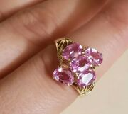 3.75 Ct No Heat Ceylon Pink Sapphire Ring Size 7 With Appraisal