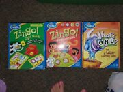 Lot 3 Think Fun Zingo Game Lot Sight Words Gnu 123 All Complete 1-2-3