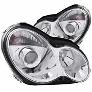 Anzo Usa Projector Headlights Chrome For Mercedes-benz C Class W203 4dr 00-07