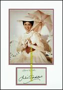 Julie Andrews Mary Poppins Signed My Work Bookplate Autograph Uacc Rd 96