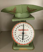 Vintage Sears Roebuck Green Painted Metal 1906 Kitchen Farm Barn Scale Andtray