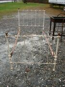Antique Brass And Iron Bed Single Poster Bed - See Photos - 14