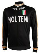 Molteni Menand039s Thermal Long Sleeve Cycling Jersey By Vermarc S-4xl Black