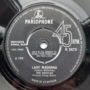 Very Rare Lady Madonna Sold In The Uk With Polo Ring Centre Beatles