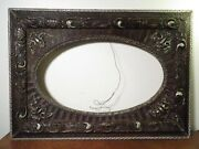 Beautiful Antique Wood And Gesso Picture Frame Very Ornate Oval 1890s-1900s 12x20