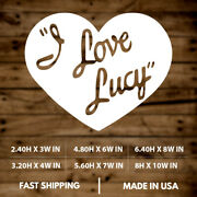 I L Love Lucy|heart|classic|tv Show|vinyl Sticker|decal For Window|laptop|car