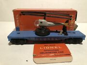 Lionel 3419 Helicopter Car Light Blue W/ Box