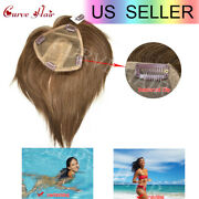 Remy Hair Clip In Topper Hairpieces Extension For Women With Thinning Gray Loss